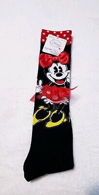 Minnie Mouse long socks set. Red Bow and tutu skirt. BRAND NEW with tags.  (Red And Black Minnie Mouse Tutu)