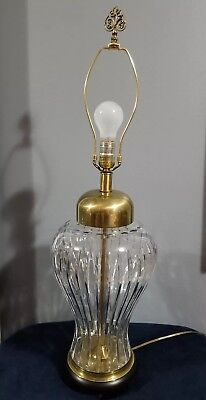 Vintage FREDERICK COOPER Large Table Lamp Urn Crystal & Brass 32.5