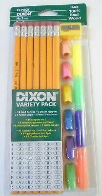 Dixon Ticonderoga 25 Variety Pack No. 2 Real Wood Pencils New Sealed