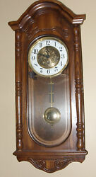 SLIGH MODEL 0777-1-AB WESTMINISTER CHIME WALL CLOCK, HERMLE 341-020 MOVEMENT
