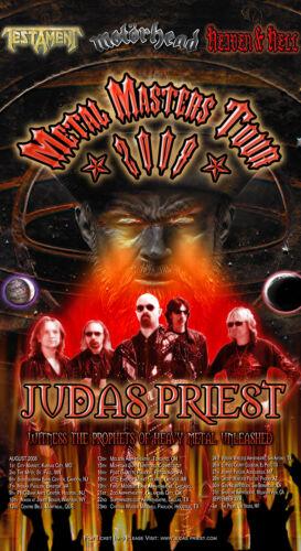 Judas Priest METAL MASTERS TOUR concert poster