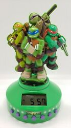 Teenage Mutant Ninja Turtles Alarm Clock Radio W/Aux input and nightlight Free S