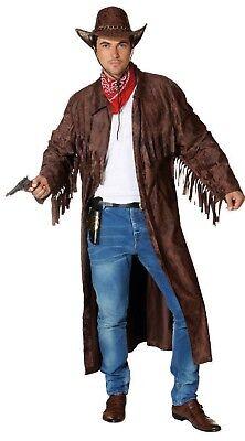 Cowboy Wilder Westen Country Trapper Kostüm Mantel Jacke Cowboymantel Herren - Trapper Kostüm