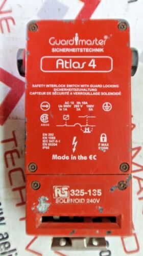 GUARD MASTER ATLAS4 RS325 135 SAFETY INTERLOCK SWITCH WITH GUARD LOCKING