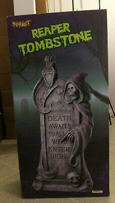 Spirit Halloween 2008 Reaper Tombstone w/ Original Box VERY RARE DISCONTINUED