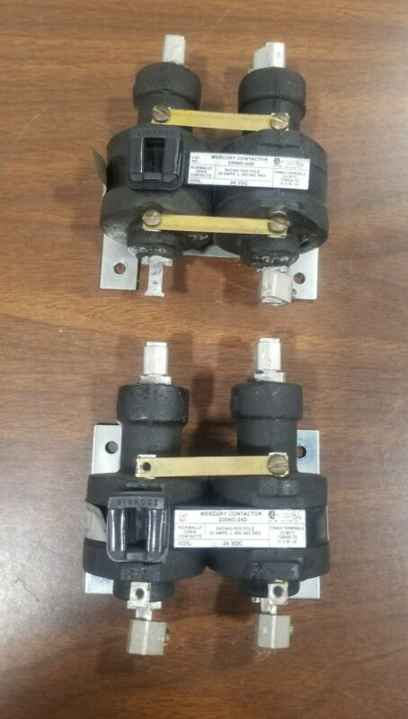 MDI Mercury Contactor 235NO-24D 24 VDC (lot of 2) #004C6