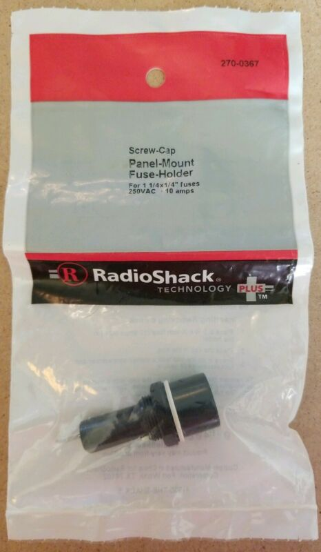 NEW! RadioShack Screw-Cap Panel-Mount Fuse Holder 2700367 *FREE SHIPPING*
