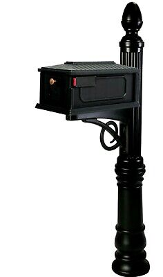 Black Mailbox Post Combo Large Victorian Double Wall Polymer Slip Over Combo -