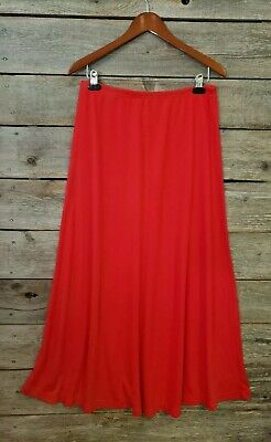 Size LARGE Tall RED Quality STRETCH KNIT long Modest SKIRT Elastic waist LKNEW!  Tall Knit Skirt