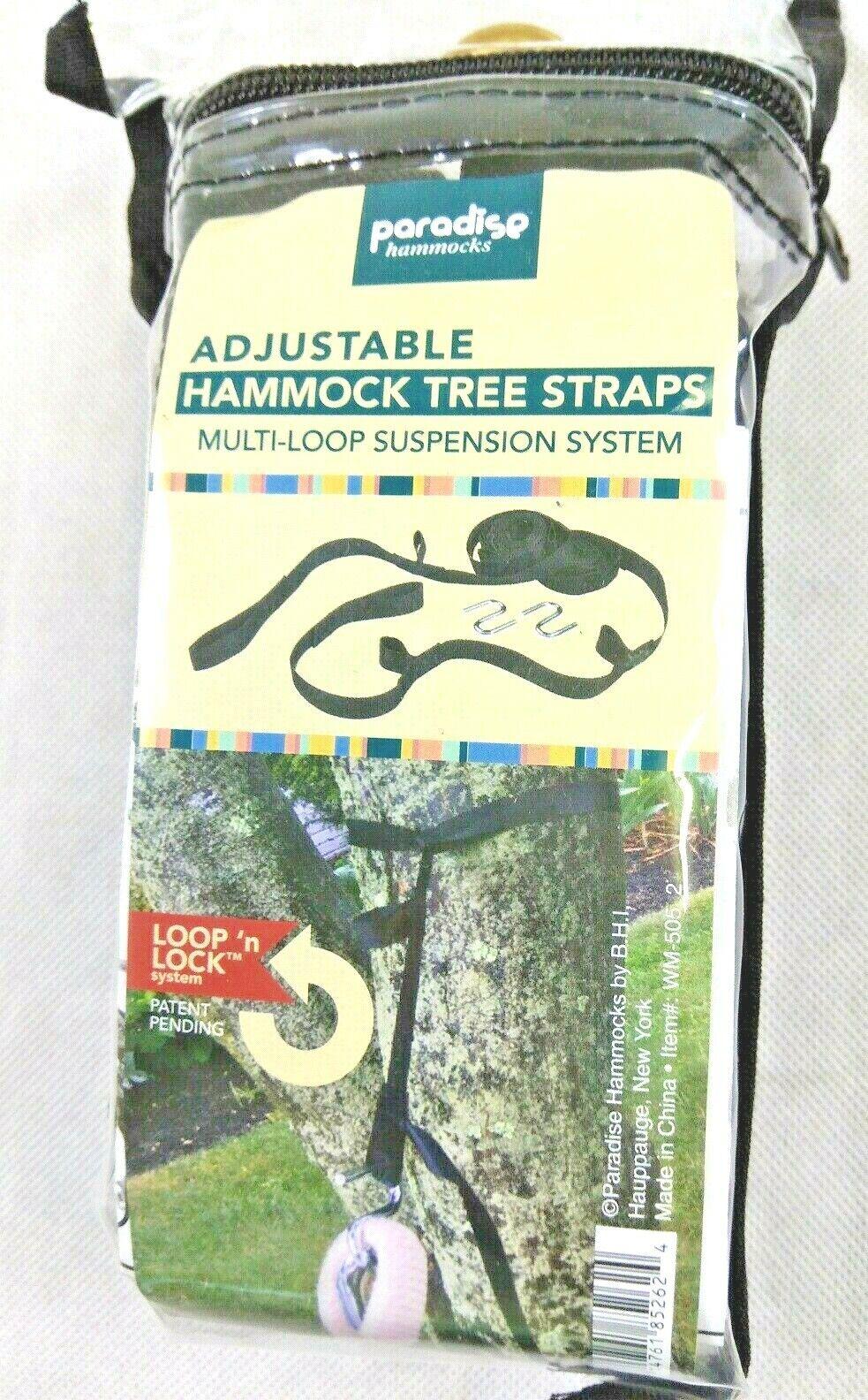 Paradise Hammock Tree Hanging Straps Set, Adjustable S-Hooks