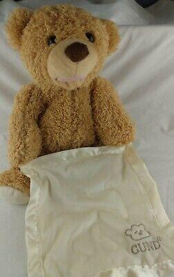 Gund Teddy Bear Plush Peek A Boo Animated Talking Baby Toy Gift