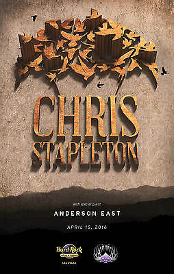 CHRIS STAPLETON 2016 LAS VEGAS CONCERT TOUR POSTER - Country Southern Rock Music