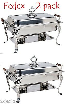 8qt Classic Chafer Rectangular Chafing Dish Catering Buffet Food Tray Rebate