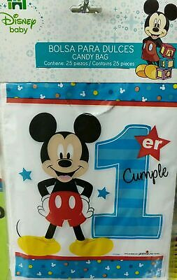 25/50 pcs Mickey Mouse 1st year Birthday Party Favors Treat Loot Candy Bags baby - Mickey Mouse Party Bags