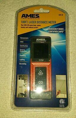 Brand New Ames 100ft. Laser Distance Meter Ldm-30