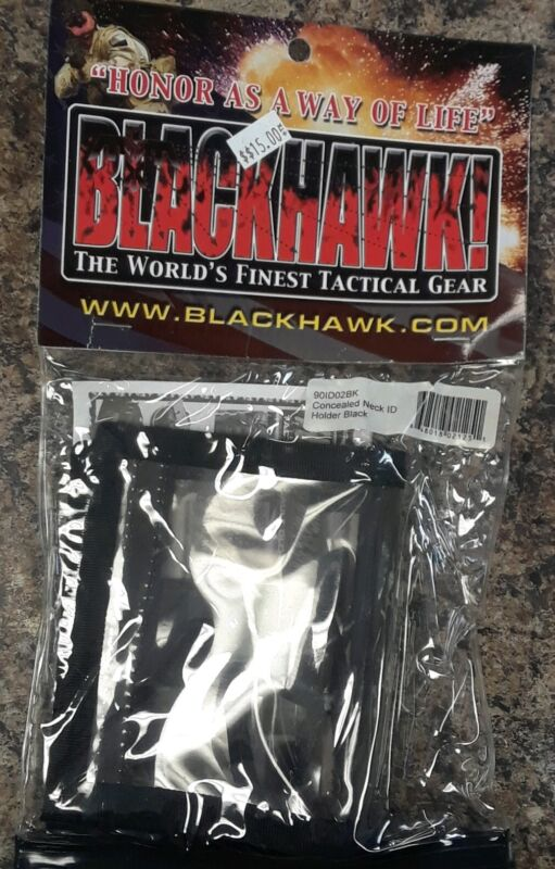 Blackhawk 90ID01BK Neck Id Badge Holder Black Concealed Permit Carrier Id Holder