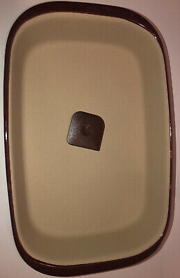 Pampered Chef Rectangular Baker 9X13 Cranberry 1338 NWOB stoneware dish pan New