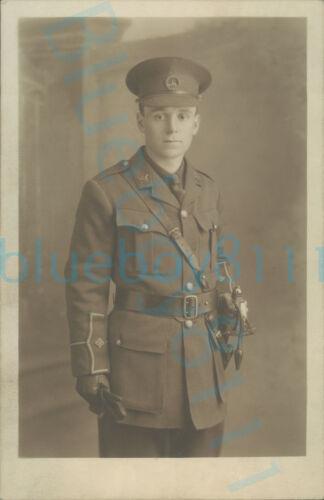 WW1 South Wales Borderers Soldier Officer 2nd Lieutenant Studio photo USA studio