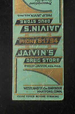 1940s Jaivin's Drug Store Philip Jaivin Westland St. Cor. Barbour Hartford CT (Westland Stores)