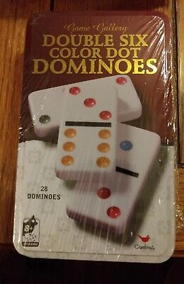 Game Gallery - Double Six Color Dot Dominoes - 1 Game - 28 Dominoes - New/Sealed