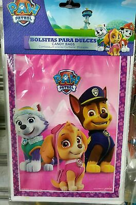- 25/50 pcs Paw Patrol Girl Skye Everest Party Favors Treat Loot Candy Bags