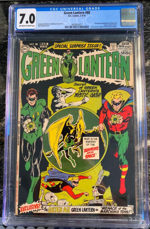 Green Lantern #88 CGC 7.0 classic Neal Adams cover