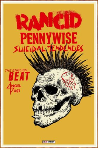 RANCID | PENNYWISE Tour 2019 Ltd Ed New RARE Poster +BONUS Punk Rock Poster!