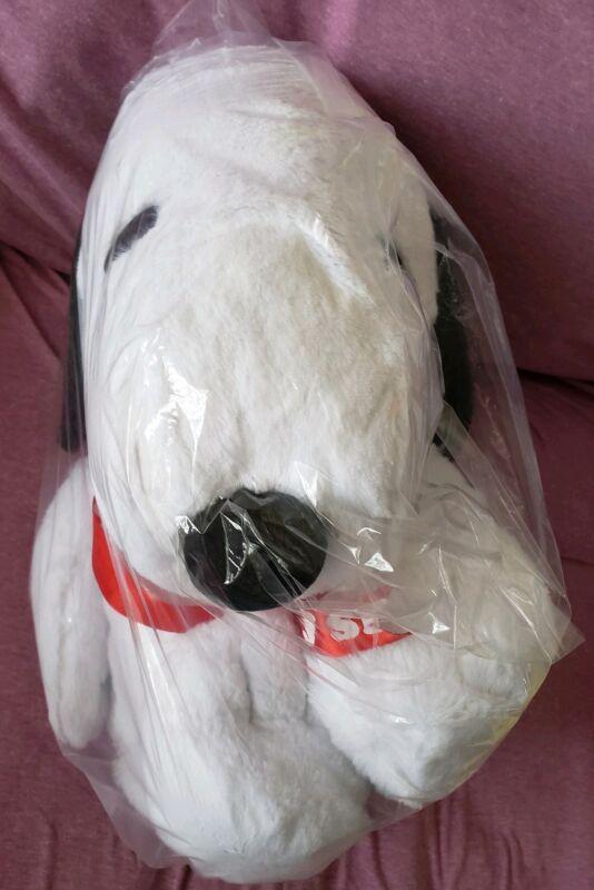 Snoopy Peanuts Ribbon Big Plushy Plush Doll Japan Import