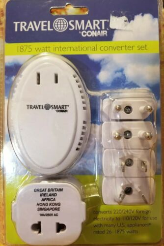 Travel Smart By Conair - 1,875-Watt Converter with 5 Insulat