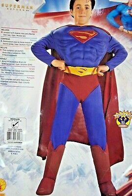 Halloween Costume SUPERMAN w/ MUSCLES Super Man DC Comics Boys MEDIUM 8-10 NEW