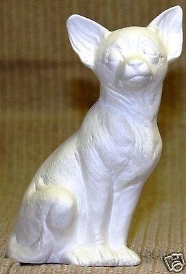 Ceramic Bisque Chihuahua Dog Nowell Mold 2451 U-Paint Ready To Paint