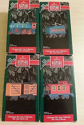 1992 HALLMARK CHRISTMAS SKYLINE COLLECTION--SET OF FOUR