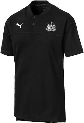 Puma Newcastle United 2019/20 Mens Short Sleeve Polo Shirt - Black