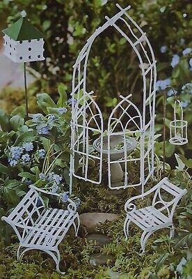 Willow Garden Furniture - 7+ PCS Willow Mini Fairy Garden Set Miniature Furniture Dollhouse Kit Bird