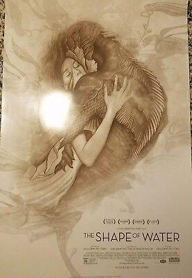 The Shape Of Water 13 1/2 x 20 Promo Movie Poster James Jean Guillermo Del Toro