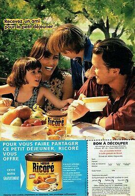 Publicité Advertising 320 1998 Ricoré chicorée café soluble Nestlé