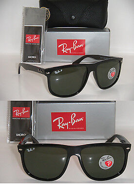 Ray-Ban Flat Top Boyfriend black Frame / Green polarized RB 4147 601/58 (Ray Ban Green Polarized)