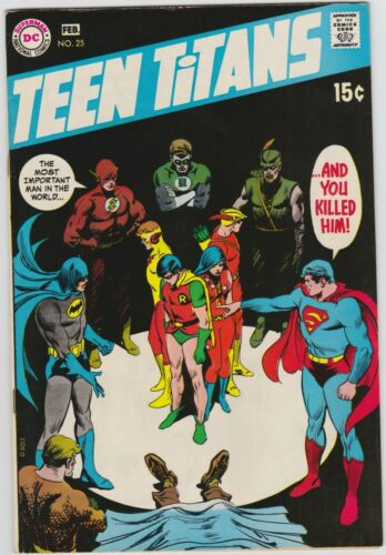 Teen Titans 25 VF- 7.5 Silver Age Justice League of America