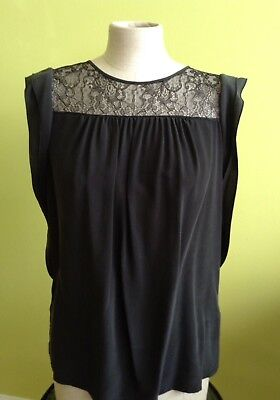 New and Authentic Max Mara Studio Black Blouse, sizes S, M, L, MSRP $295.00