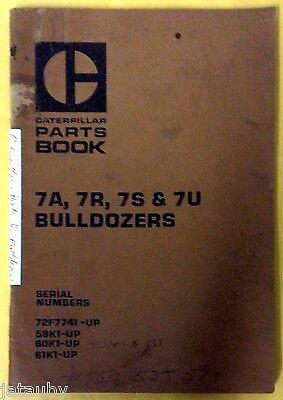 Caterpillar Parts Book 7a7r7s 7u Bulldozers