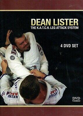 K.A.T.C.H LEG ATTACK SYSTEM DEAN LISTER 4 DVD Training BJJ MMA Jiu Jitsu B452