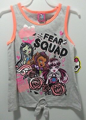 NEW GIRLS MONSTER HIGH FEAR SQUAD T-SHIRT SIZE XL 14/16 FRANKIE STEIN 1](Monster High New Girls)