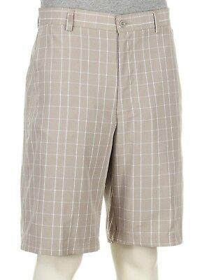 Bolle Golf Yarn Dyed Plaid Print Tech Shorts Dove
