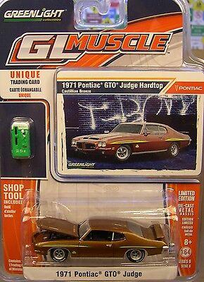 Bronze 1971 Pontiac Gto Judge Greenlight 1 64 Scale Diecast Metal Model Car
