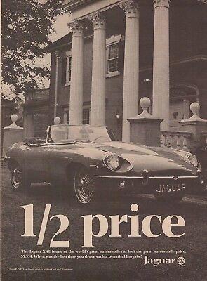 1969 Jaguar XKE XK-E Convertible Car Vintage Photo Print Ad