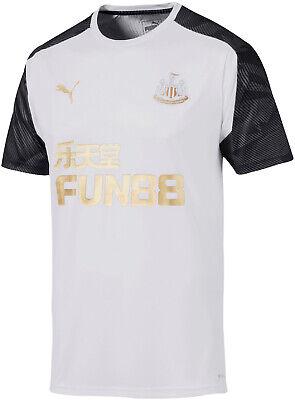 Puma Newcastle United 2019/20 Mens Short Sleeve Training Top - White