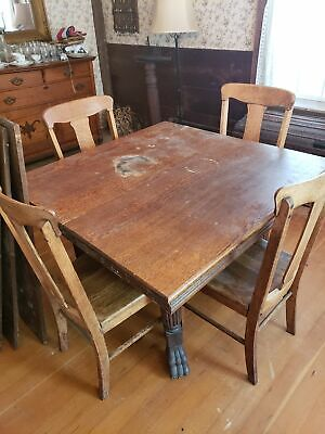 Last Chance Before Tag Sale - Vintage Oak Table and Chairs