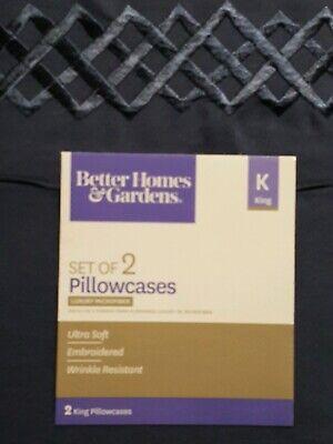 Better Homes & Gardens LUXURY MICROFIBER  Pillowcase Set 2 King