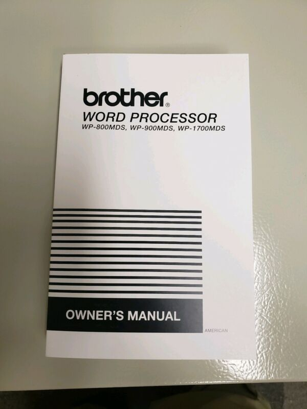 Brother WP- 1700MDS  Word Processor   manual