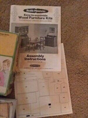 Used, Realife Miniatures Wood Furniture Kit Dining Room 1974 for sale  Waldorf